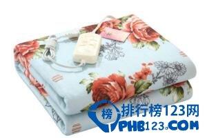 电热毯品牌排行,彩虹电热毯口碑最受欢迎
