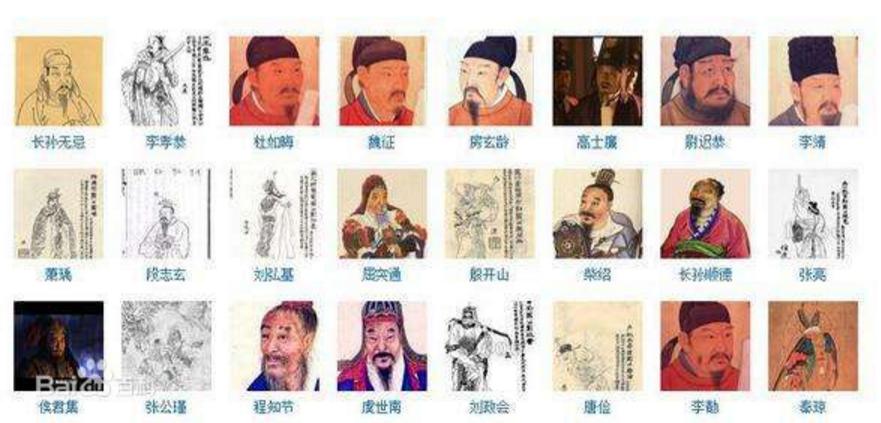 凌烟阁二十四功臣排名:第一名是皇后哥哥秦叔宝最末