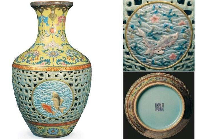 全球最值钱的十大文物:乾隆粉彩镂空瓶价值5.541亿(很丑)
