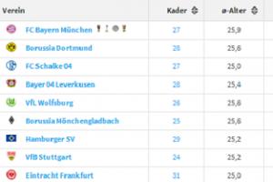 2014德甲球队身价排行榜