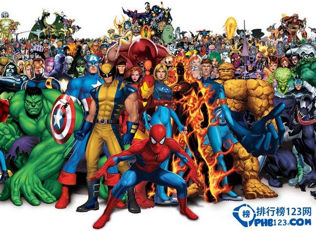 美国漫威超级英雄实力排名