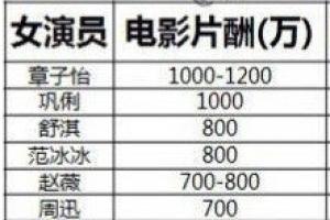 女明星片酬钱柜娱乐777官方网站首页2014