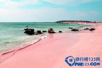 全球最有特色的沙滩排名 粉色沙滩魅力难挡