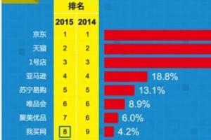 2015中国电商力量排行榜 京东综合排名居首