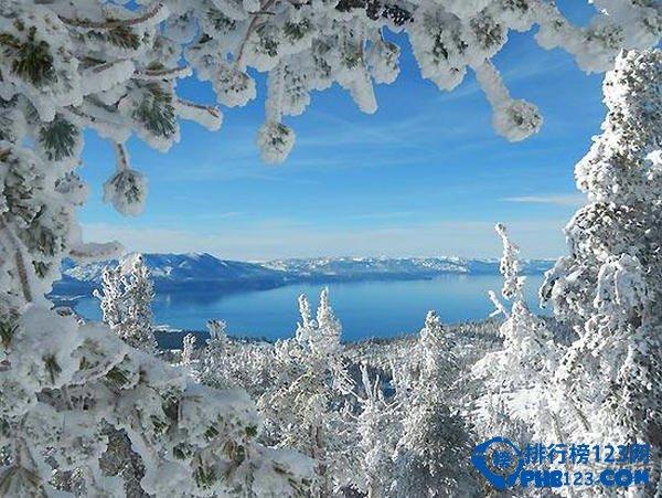 美国加州太浩湖:绝佳滑雪场地