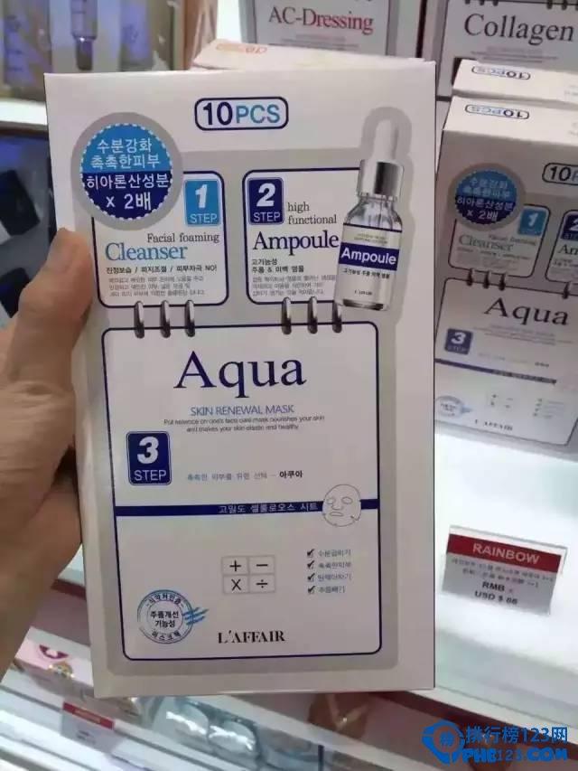 2016年韩国补水面膜排行榜