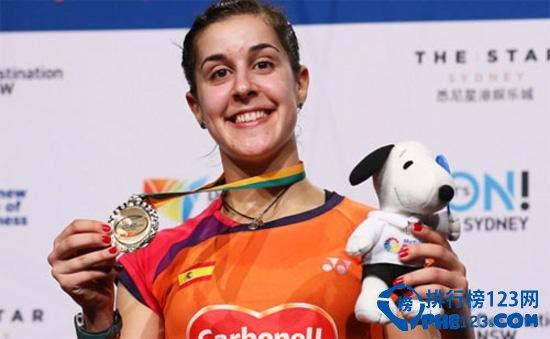 女子羽毛球世界第一西班牙马林