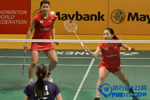 女双羽毛球世界排名第一:高桥礼华/松友美佐纪