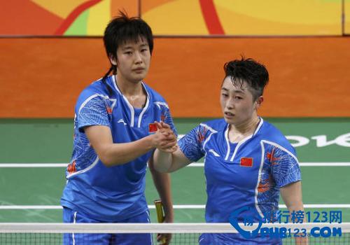 中国羽毛球女子双打选手于洋/唐渊渟