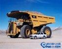 世界上最大的卡车,卡特彼勒797(轮胎直径4.03m)