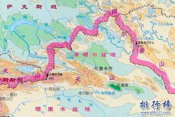 准噶尔盆地地图