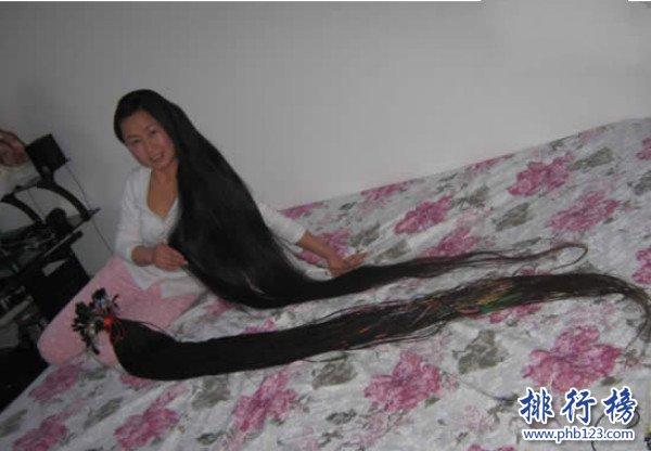 世界上最长的头发,最长达到16.8米(没有最长只有更长)