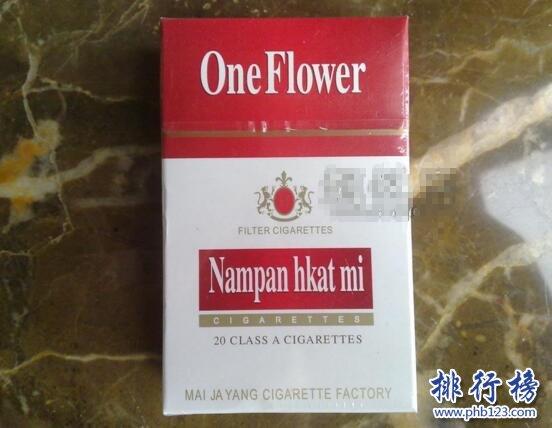 One Flower香烟图片,缅甸一枝花香烟价格排行榜(1种)