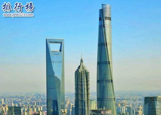 中国最高楼2017排名,上海中心大厦632米(9楼高于400米)