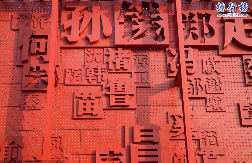中国百家姓人口排名TOP10 中国人口最多的李姓9530万人