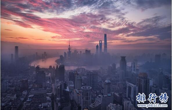2017上半年中国主要城市GDP排行榜:上北广深前四,重庆第6武汉第9