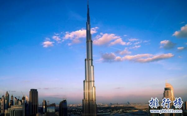 十大世界上最高的塔排名:哈利法塔828米鹤立鸡群