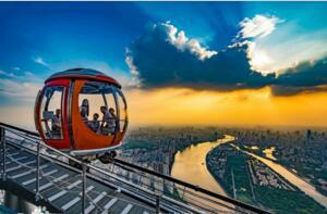 世界上最高的摩天轮,广州塔摩天轮凌空450米(纵览广州全景)