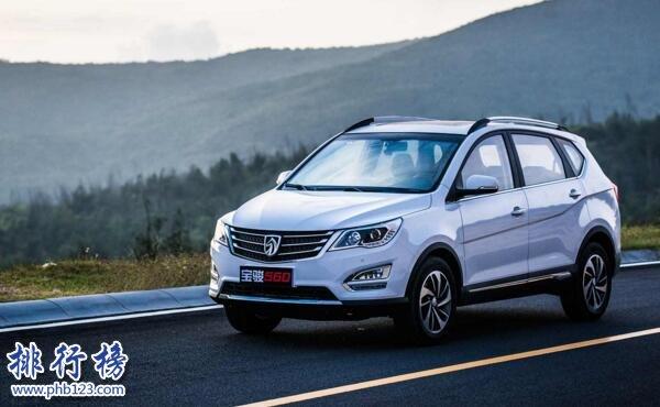 2017年9月SUV销量排行榜:宝骏510继续紧追哈弗H6