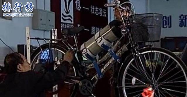 空气自行车:中国民间发明家研发空气动力自行车,成果良好