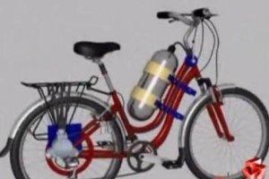 空气自行车:韩国三级片大全民间发明家研发空气动力自行车,成果良好