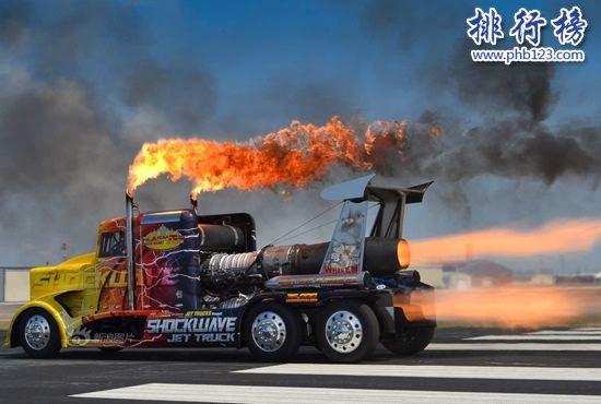 世界上最快的飞机引擎动力卡车:喷气式卡车,速度超过日本子弹头列车