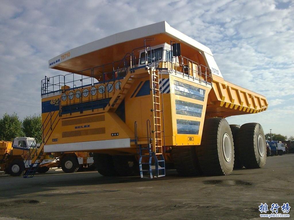 世界上最大的自卸车:别拉斯-75710重量相当于37辆双双层巴士