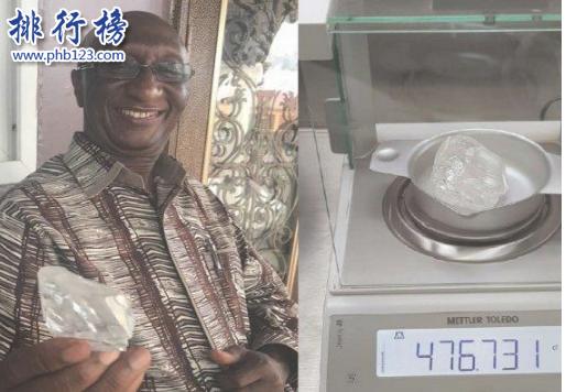 世界第29大钻石:重476克拉 出自世界最穷国家