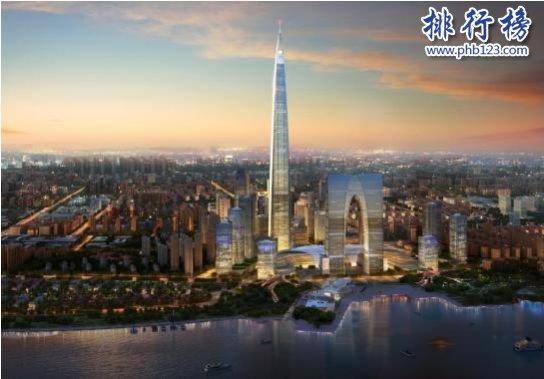 中国第一高楼排名,上海中心大厦632米即将被超越