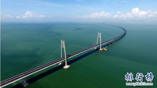 世界十大最长跨海大桥排名,港珠澳大桥55公里全球第一