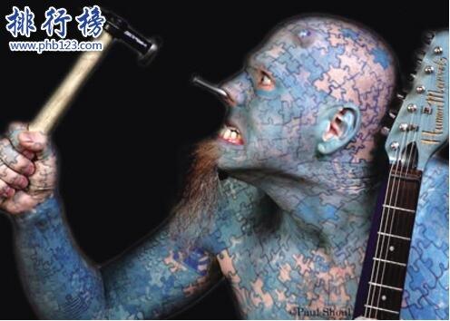 朱莉亚·吉娜斯,全身95%皮肤被纹身覆盖(真正的五花肉)