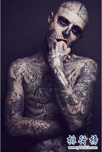 僵尸男孩瑞克·格内斯特,世界上纹身最帅的男人(附还原视频)