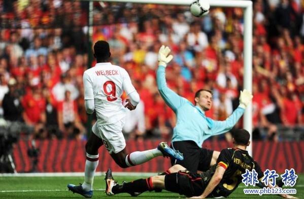 比利时队VS英格兰队历史战绩,比利时队VS英格兰队比分记录