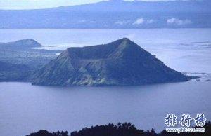 世界上最小的活火山,塔尔火山(相对高度仅200米)