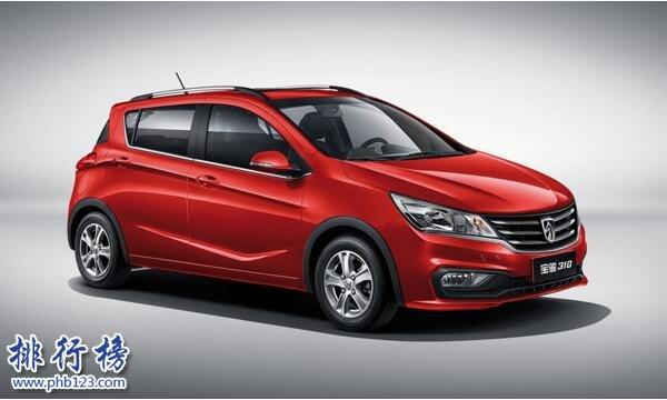 2017年11月小型轿车销量排行榜:宝骏310独居一档,单月销量3.1万