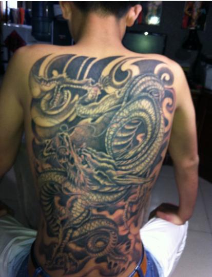 纹身四大神兽图片:四大神兽之禁忌纹身图案_排行榜123