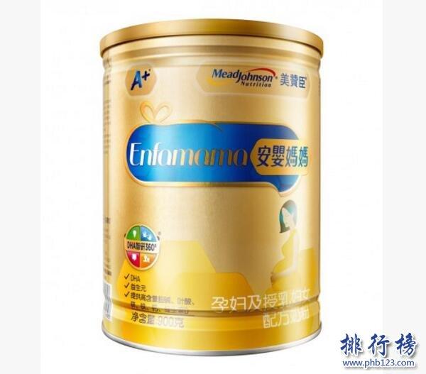 孕妇奶粉推荐:中国孕妇奶粉排行榜10强