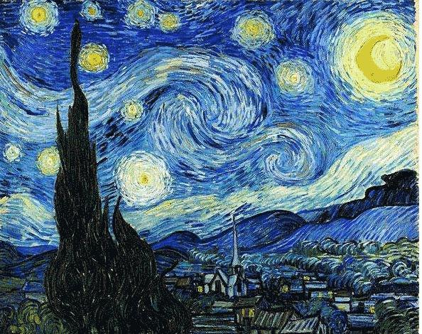 梵高十大名画,油画作品赏析璀璨的星空真的太美了