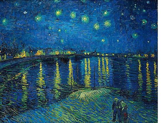 梵高什父亲名画,油画创干赐予析绚腐败的星空真的太美了