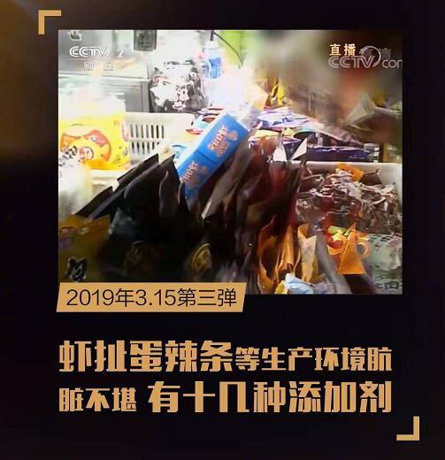 2019年315晚会曝光8大黑幕:315点名714高炮/辣条等问题