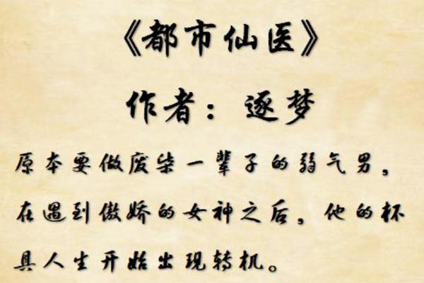 十大神医小说排行榜 神医圣手排名第一,赶紧收藏最新章节