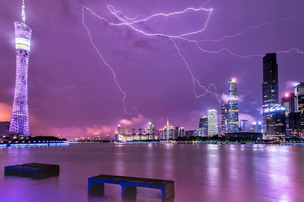 中国十大雷暴城市