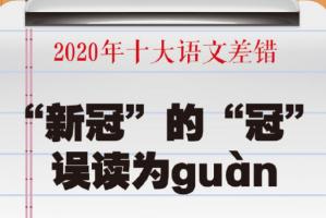 """2020年十大語文差錯排行榜:""""螺螄粉""""上榜,這些你讀對了嗎?"""