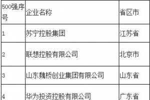 2014中国十大民营企业收入排行榜